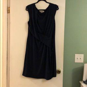 Loft navy blue dress size 18